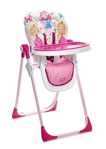 Piku Princesas - Trona para bebés con bandeja regulable