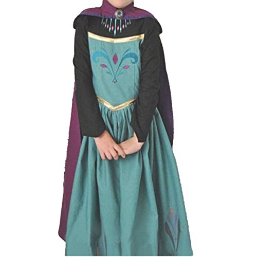 Prinzessin Kostüm Kinder Glanz Kleid Mädchen Weihnachten Verkleidung Karneval Party Halloween Fest, Blau und Lila, Gr. 110= Körpergröße 110cm ()