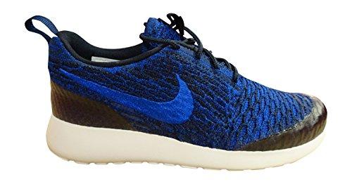 Nike Roshe Flyknit, Chaussures de running entrainement femme dark obsidian racer blue deep royal blue 403