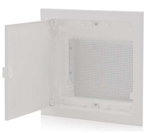 Multimedia Patch Panel (MKEUGH12 Multimediaverteiler Unterputz 1-reihig 317x346x92mm IP40 perfekt für die Ordnung der Multimediasysteme)
