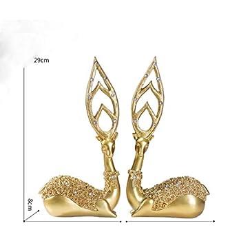 Vitrine décoration décoration création maison maison personnage européen artisanat Chambre de télévision salon , Cerf à cornes pointues
