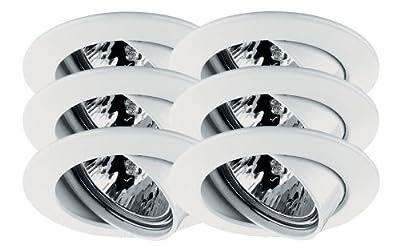 Paulmann 99473 Premium EBL Set schwenkbar 6x35W 2x105VA 230/12V GU5,3 51mm Weiß/Alu Zink von Paulmann Leuchten bei Lampenhans.de