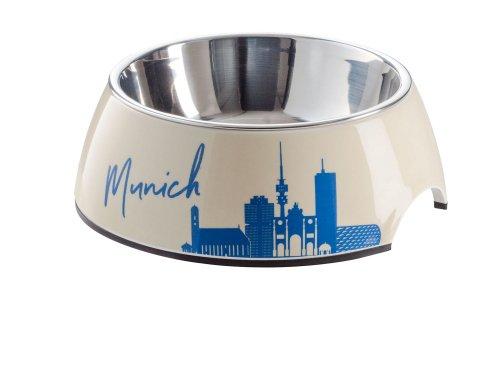 HUNTER Melamin-Napf München, mit Edelstahlnapf, 700 ml, Farbe Munich