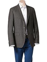 RENÉ LEZARD Herren Sakko Baumwolle Anzugjacke Gemustert, Größe: 98, Farbe: Schwarz