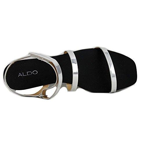 Aldo Larieniel Offener Spitze Synthetik Slingback Sandale Silver