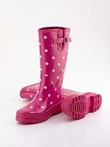 Cath Kidston Rain Boots Wellies Red Cherry Spot Uk 5