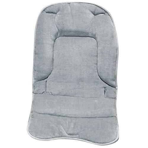 Monsieur Bébé  Coussin de confort pour chaise haute bébé enfant gamme Ptit - Gris perle - Norme NF EN14989