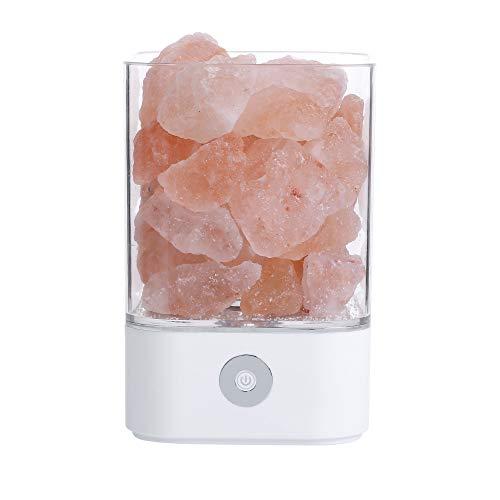USB-Kristall-Salz-Lampe Schlafzimmer Bett kleine Nachtlicht dekorative Atmosphäre Tischlampe 94 x 94 x 141MM 5W Weißem M4-Quadrat