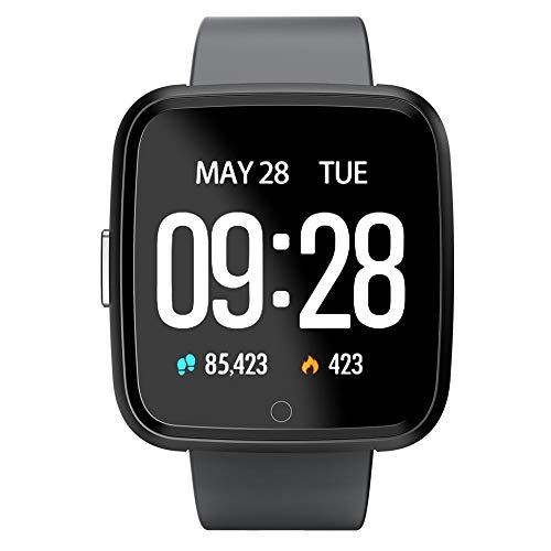 Ridecle IP67 Smartwatch mit Herzfrequenz-Monitor, Smart-Armband, für Android 5.1 (enthalten), iOS 8.0 (enthalten), Oben
