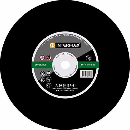 10x Interflex Trennscheiben SET für Metall Stahl 350 x 25,4mm Metalltrennscheibe INOX Kunstharz