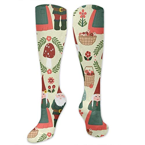 Gped Kniestrümpfe,Socken Christmas Gnomes Winter Party Compression Socks,Knee High Socks,Funny Socks for Women Men - Best Medical,Sports,Running, Nurses,Maternity,Pregnancy,Travel & Flight Socks