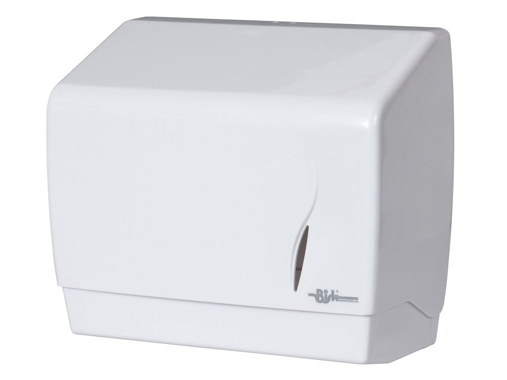 Bisk ABS Z Fold Distributore carta asciugamani , Bianco