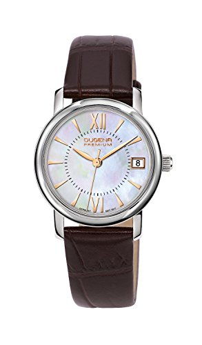 Dugena Premium Women's Quartz Watch Rondo Petit 7000155 with Leather Strap