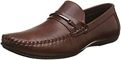 egoss Mens Tan Leather Formal Shoes - 6 UK/India (40 EU)