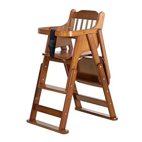 Bois Pliable Chaises Hautes Chaise de Salle à Manger pour bébé Siège bébé Table à Manger Tabouret Bébé Chaise de Salle à Manger pour Enfants Multifonctionnel Chaise Enfant télescopique Portable