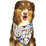 Rghkjlp Various Dog Group Pet Dog Bandanas Triangle Bib Scarf Accessories for Dogs, Cats, Pets Animals