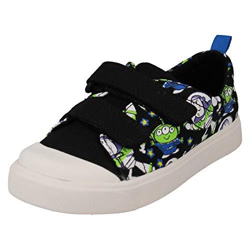 Clarks Jungen Toy Story Print Canvas Schuhe 'City Team', Schwarz - Schwarz - Größe: One Size - Clarks Leinwand Sandalen