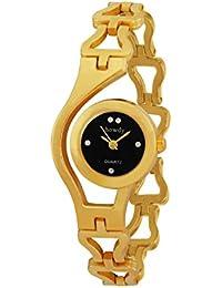 Howdy Golden Analog Black Dial Golden Watch- For - Women's & Girl's Ss394