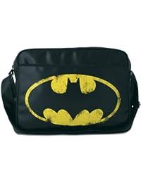 Logoshirt Schultertasche DC - BATMAN black