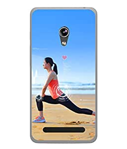 Asus Zenfone 6 A600CG Back Cover Lady Doing Yoga Design From FUSON