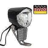 ecolle Cree LED Fahhradscheinwerfer Nabendynamo StVZO Zugelassen 70 Lux mit Sensor Fahrrad Beleuchtung Vorderlicht