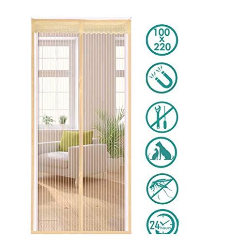 XUELIANG Magnetischer Fliegengitter-Tür-Insektenschutz-Magnetvorhang Ideal für Balkontür-Terrassentür Einfach zum Kleben Kein Bohren