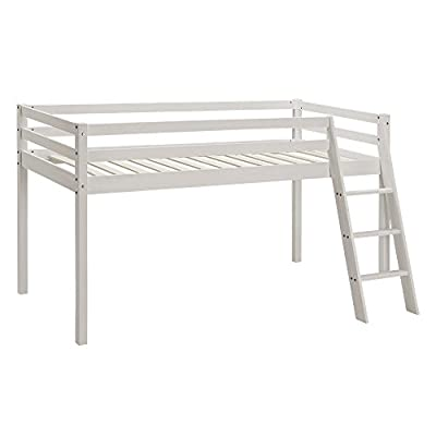 Unmatchable Kids Bunk Bed Mid Sleeper Wooden Pine Cabin Bed with Ladder