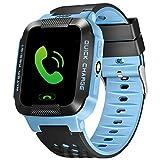HHJEKLL Intelligentes Armband Smart Watch Echtzeit-Sicherheitstracker GPS/AGPS/LBS WasserdichtesStudenten-GPS zur Verfolgung der GSM-SIM-Karte Anruf-ID, blau