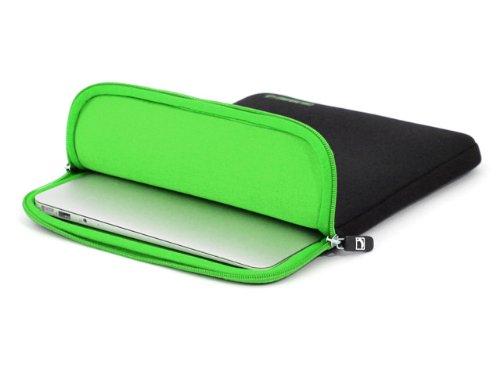 COOL BANANAS ShockProof MacBook Air 11 Zoll Hülle   Sleeve   Laptop-tasche mit strapazierfähigem Nylon   höchster Schutz durch Memory-Foam-Kern   leicht zu reinigen   wasserabweisend   Farbe Grün