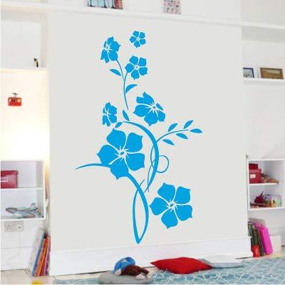 Schwarzes Klassisches Blumenrattan Verzweigt Sich Dekorative Aufkleber Des Schlafzimmerhintergrundes Umweltfreundliche Entfernbare Aufkleber Blau 61 * 40Cm