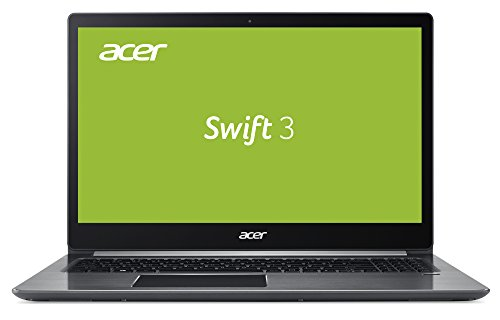 Acer Swift 3 (SF315-51G-73UX) 39,6 cm (15,6 Zoll Full-HD IPS) Ultrabook (Intel Core i7-7500U, 16GB RAM, 512GB SSD, Geforce MX150, HDMI, USB 3.1 Type-C, Win 10) grau