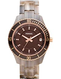 Fossil damen armbanduhr ladies dress analog leder es2997