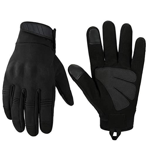 Neusky Herren Taktische Handschuhe Touchscreen Fahrrad Handschuhe Motorradhandschuhe MTB Handschuhe Mountainbike Handschuhe Outdoor Sport Handschuhe Ideal für Airsoft, Paintball (L, Leicht-Schwarz)