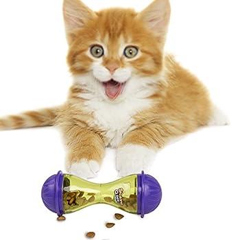 BIGWING STYLE pour animal domestique Chat Chien Feeder Distributeur de nourriture Treat Balle jouet pour chat Balle pour toutes les tailles de friandises de chat pour animal domestique fuite Feeder Ball-11.5 cm