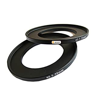 Neewer 40.5 - 58 mm Step Up Adapter Ring for Camera - Black