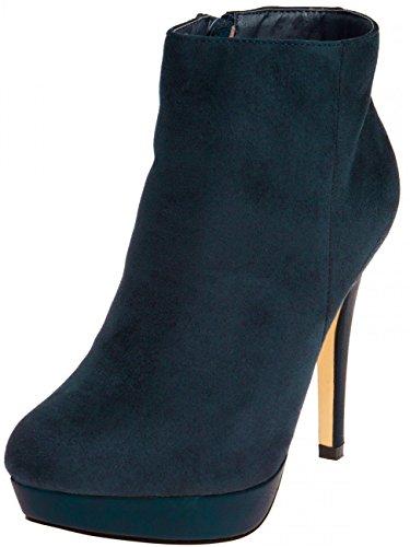 Senhoras Ankle Boots De Salto Alto Sbo052 Azul Escuro