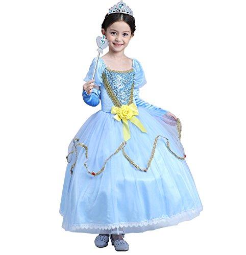 Das beste Prinzessin Kleid Kostüm Cosplay Partei Mädchen Abendkleid