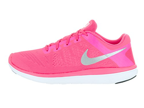 Nike Flex 2016 Rn (Gs), Scarpe da Corsa Bambina Pnk Blst/Mtllc Slvr/Blk/Hypr P