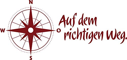 GRAZDesign Home Dekoration modern Kompass Windrose - Walltattoo Wohnzimmer Flur Büro Auf dem richtigen Weg - Wandtattoo Motivation Büro Arbeitsplatz / 120x57cm / 660170_57_030