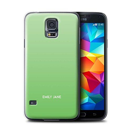 Stuff4 Personalizzato Colori Personalizzati Ombre Custodia/Cover per Samsung Galaxy S5/SV/Menta Verde Design/Iniziale/Nome/Testo Caso/Cassa