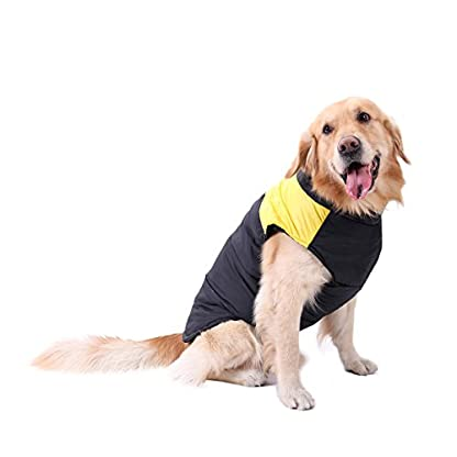PAWZ Road Pet Clothes For Small Medium and Large Dogs Winter Warm Vest Jacket Easy On/Off Yellow 5L 5