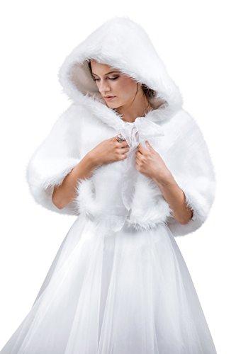 MGT-Shop - Poncho - Cape - Femme weiß