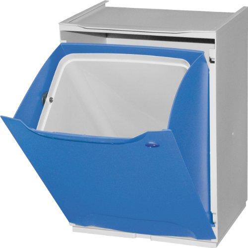 6 colores Duett Cubo de Reciclaje Pl/ástico Apilable