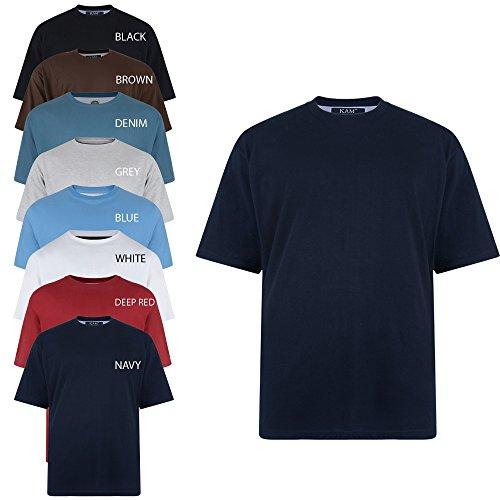 Kam New Big Mens King Sizes Basic Plain Crew Neck T-Shirt Tee 2XL 3XL 4XL 5XL 6XL 7XL 8XL