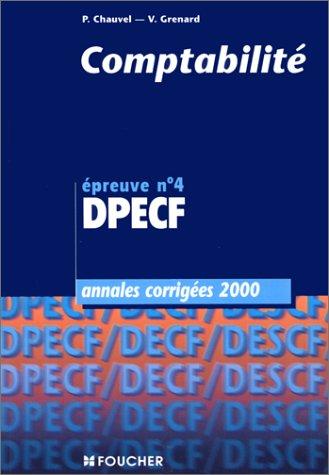 Annales DPECF, 2000 : comptabilité