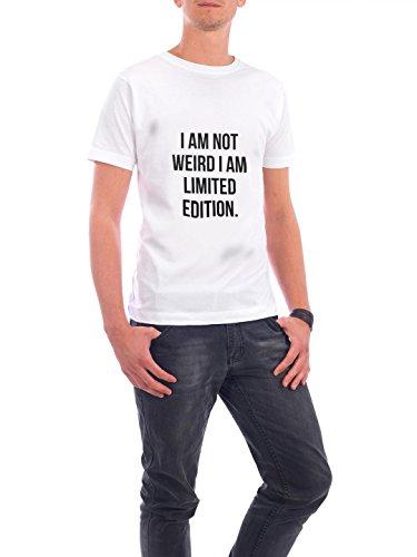 """Design T-Shirt Männer Continental Cotton """"Not Weird"""" - stylisches Shirt Typografie Essen & Trinken von Akay Akcan Weiß"""