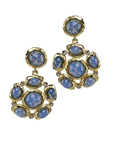 Kenneth Jay Lane Women's Satin Gold Plated Crystal Glass Mixed