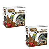 2 X Window Bird Feeders From Kingfisher. A Package Of 2 Clear Perspex