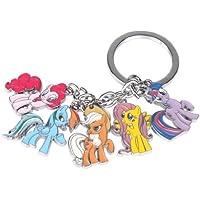AMDXD Gioielli Portachiavi Mini Lovely Pony Metal Keychain Keyring Pendente 1 Inch