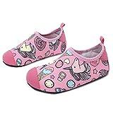 JOINFREE Niños Niñas Nadar Zapatos para el Agua Deportes acuáticos Calcetines Zapatillas Zapatos para la Piscina (Caramelo Unicornio,36-37)